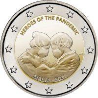 Μάλτα 2 Ευρώ 2021 Heroes Of The Pandemic BU