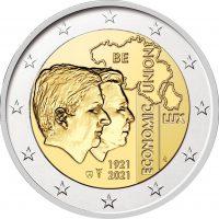 Βέλγιο 2 Ευρώ 2021 100 Years of BLEU BU in Coincard NL