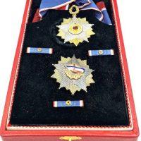Yugoslavia Republic Order Of The Yugoslav Flag With Golden Wreath
