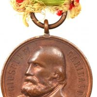Italy Giuseppe Garibaldi 1902 Bronze Medal With Original Ribbon