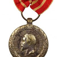 France Military Medal 1859 Italian Campaign Napoleon III Silver
