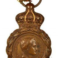 France Napoleon Bonaparte 1821 Military Medal Saint Helena