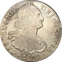 Μεξικό Mexico 8 Real 1802 Silver