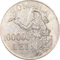 Ρουμανία Romania 100000 Lei 1946 Silver High Grade