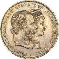 Αυστρία Austria 2 Florin 1879 Silver Wedding Anniversary Franz Joseph