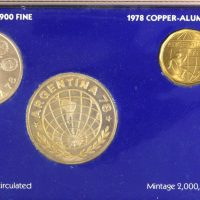 Argentina 1978 World Cup Soccer Coin Set