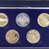 Commemorative Medals Castles Of England In Velvet Case