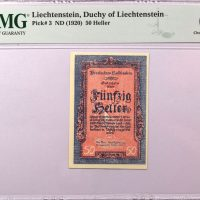 Λιχτενστάιν Liechtenstein 50 Heller 1920 PMG 64 EPQ