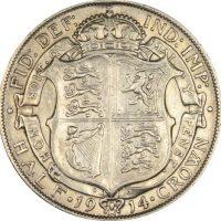 Μεγάλη Βρετανία Great Britain Half Crown 1914 Silver