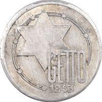 Πολωνία Poland 10 Marks 1942 Lodz Ghetto PCGS AU53