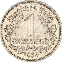 Γερμανία Germany 1 Reichsmark 1934A High Grade