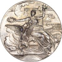 Athens 1906 Olympic Games Silver Plated Participation Medal
