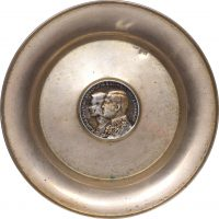 Ασημένιο Τασάκι 900/1000 Με Ασημένιο Νόμισμα 30 Δραχμές 1964