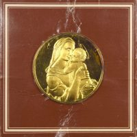 Franklin Mint Gold Plated Medal The Tempi Madonna By Raphael