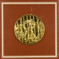 Franklin Mint Gold Plated Medal The Liberation Of St Peter By Raphael