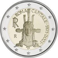 2 Ευρώ Ιταλία Italy 2021 Rome Capital Of Italy