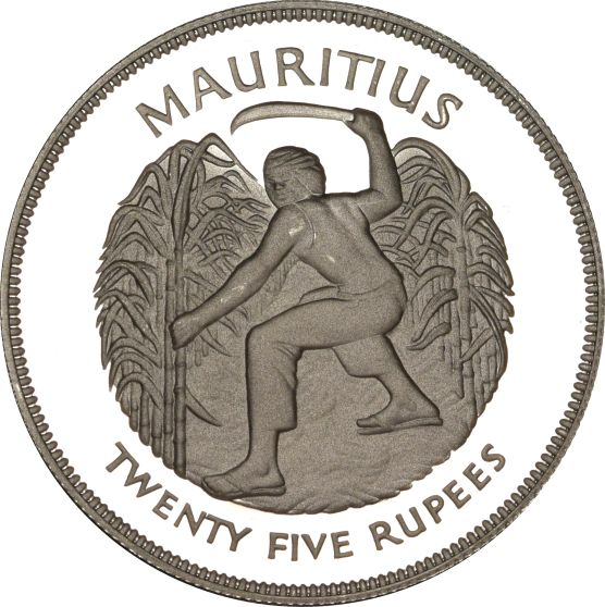 Mauritius 25 Rupees 1977 Silver Silver Jubilee if Reign