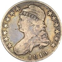 United States 50 Cents 1819 Silver Circulated Condition