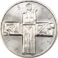 Ελβετία Switzerland 5 Francs 1963 Silver Red Cross Brilliant Uncirculated