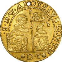 Venice Italy 1 Osella 1683 Alvise Contarini Gold Extremely Rare
