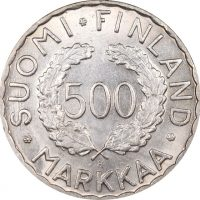 Φινλανδία Finland 500 Mark 1952 Silver Summer Olympics