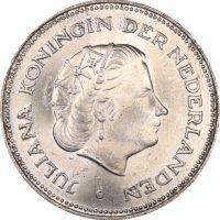 Netherlands 10 Gulden Silver 1970 Uncirculated Condition